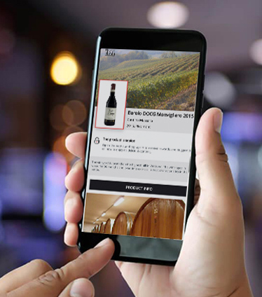 app to check the originality of the wine by getting close to the label