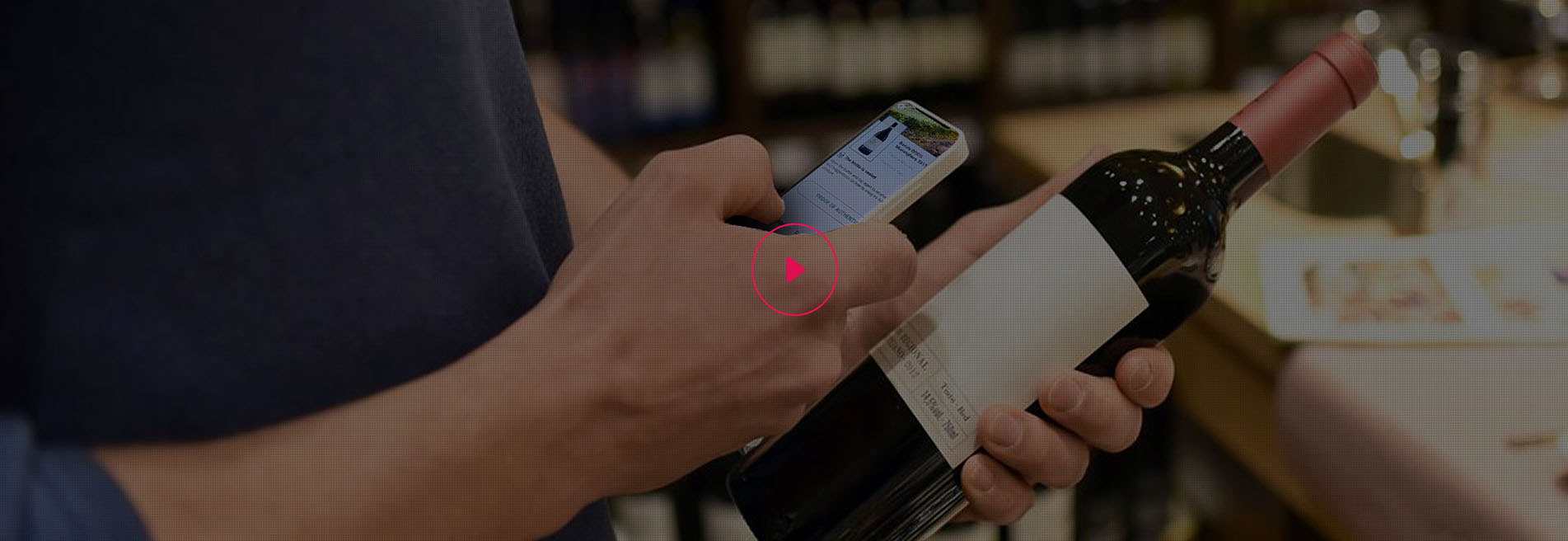 scanning of alcohol product and verification of authenticity