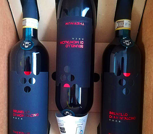 wine protected by anti-counterfeiting labels